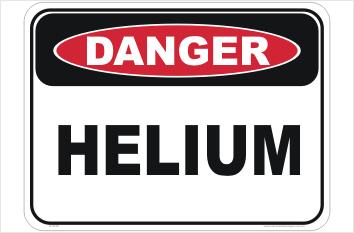 Helium sign