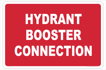 Hydrant Booster Connection sign