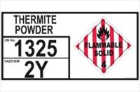 Emergency Information Panel Thermite Powder storage