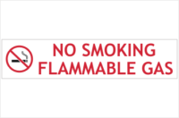 No Smoking flammable gas sign