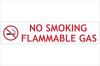 No Smoking flammable gas sign