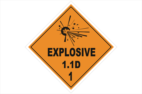 class 1 explosive 1 1d h15115 national safety signs