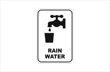 Rainwater sign