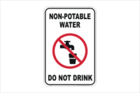Non-Potable Water sign