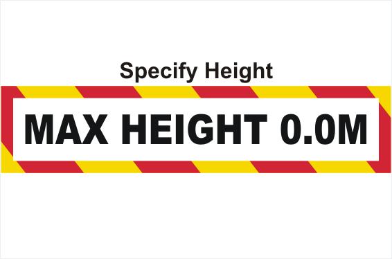 Maximum Height sign