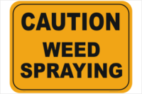 Weed Spraying signs