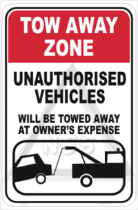 Tow Away Area No Parking Signs - Tow Away Zone Sign