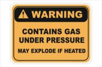 Gas Under Pressure sign