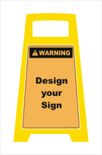 Porta Board Floor Stand Warning Sign