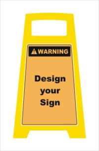 Porta Board Floor Stand Warning Sign