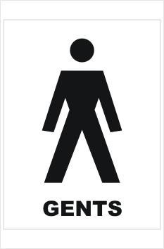 Gents Toilet sign
