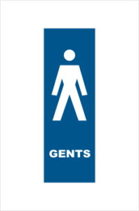 Gents Toilet sign