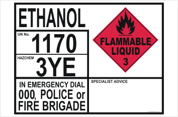 Ethanol EIP Hazchem Transport Sign