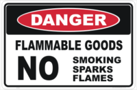 Flammable Goods Sign