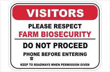 Farm Entrance Biosecurity Sign