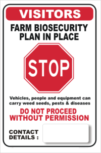 Farm Biosecurity Stop Sign