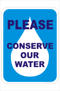 Conserve Water sign