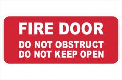 Fire door Do Not Obstruct sign