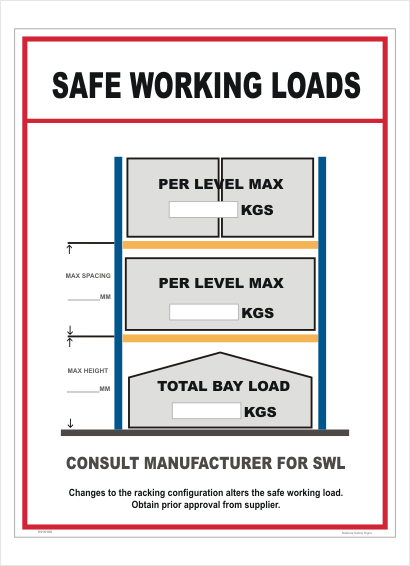 Safe Working Load sign