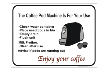 Coffee Machine sign
