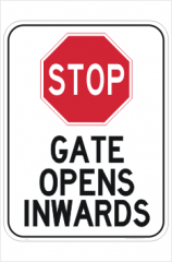 Automatic Gate opening sign