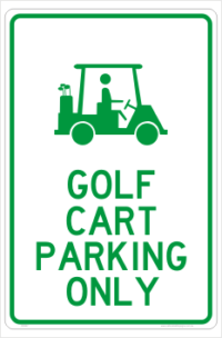 Cart Parking Only sign
