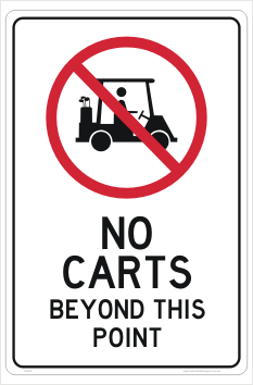 No Golf Carts sign