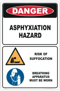Asphyxiation Danger sign
