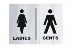 Ladies and Gents toilet sign