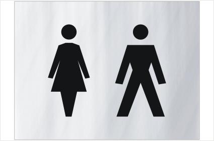 Unisex Toilets sign