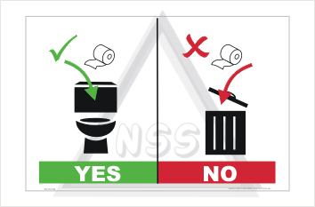 Toilet Paper disposal sign