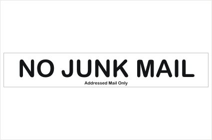 Junk Mail sign