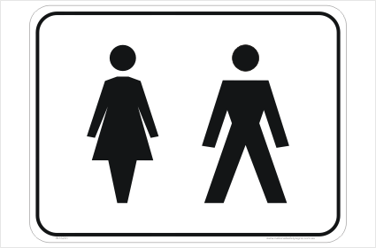 Toilet Signs Restroom Signs National Safety Signs - Unisex bathroom sign