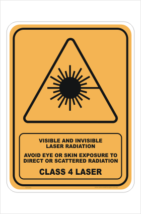 Class 4 Laser Radiation sign