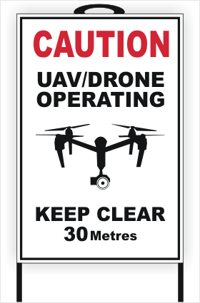 Drone A-Frame sign