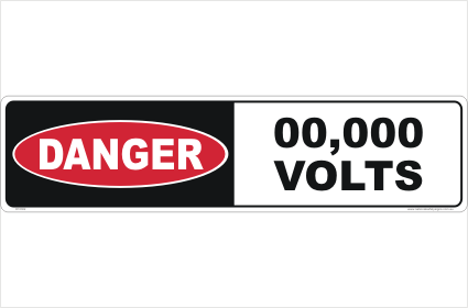 Danger High Voltage custom Sign
