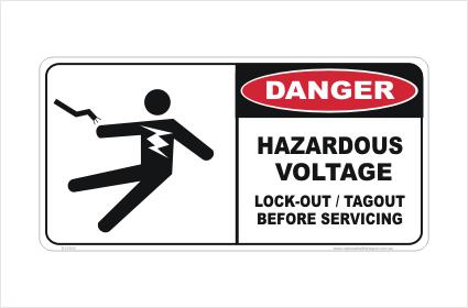 Hazardous Voltage sign