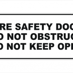 Fire Safety Door sign