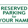 Reserved Parking sign red