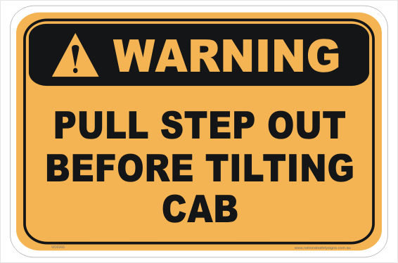 Tilt Cab sign