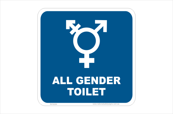 All Gender Toilet sign