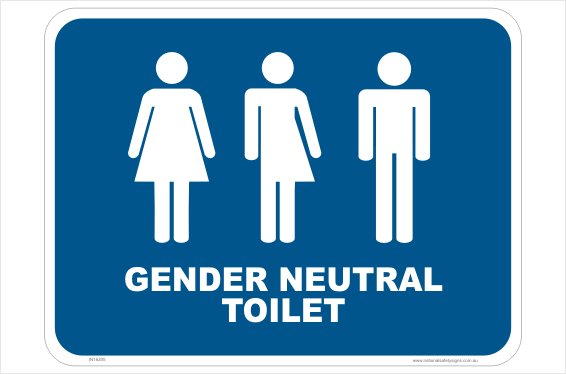 Gender Neutral Toilet sign
