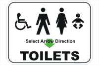 Combination Toilets sign