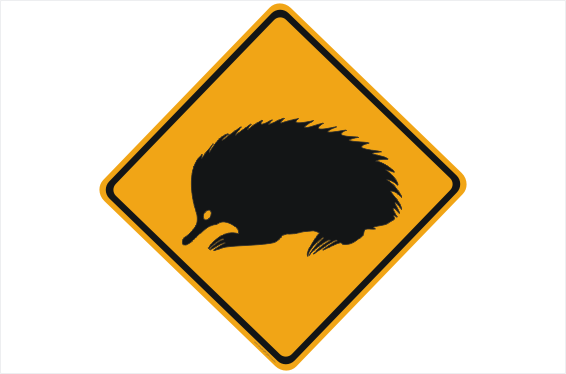 Echidna Road sign