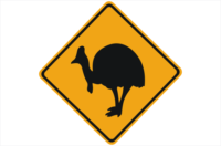 Cassowary Road sign
