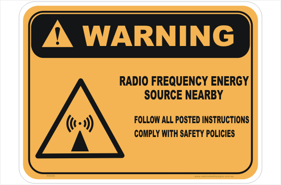 RF Energy Source sign