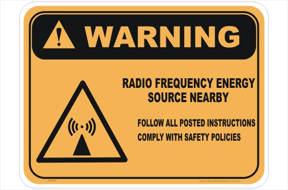 RF Energy Source sign