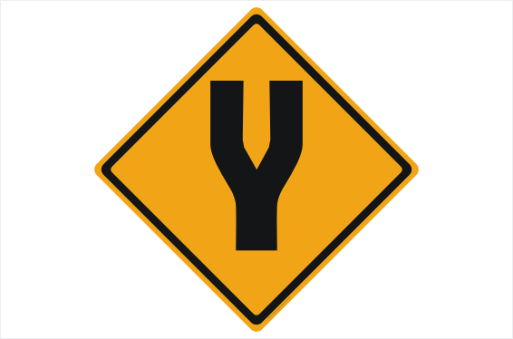 Divided Road sign