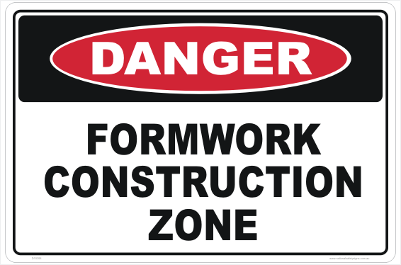 Formwork Construction Zone sign