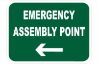 Emergency Assembly Point Left sign